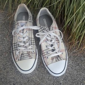 Converse All-star plaid low-top sneakers sz 8